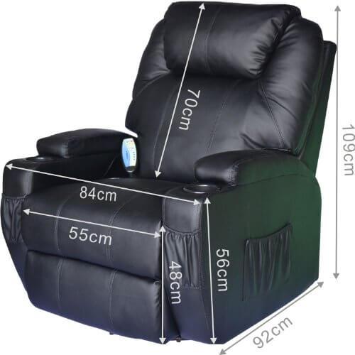 homcom massagesessel mit heizfunktion sessel neutrale kaufberatung und vergleiche. Black Bedroom Furniture Sets. Home Design Ideas