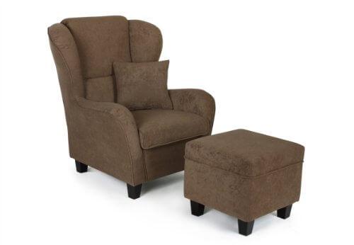 b famous ohrensessel mit hocker chris 92 x 90 cm. Black Bedroom Furniture Sets. Home Design Ideas