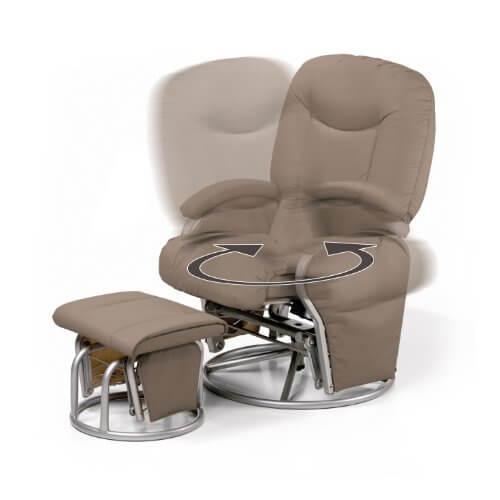 Hauck 687017 stillstuhl metal glider recline creme for Sessel quietscht