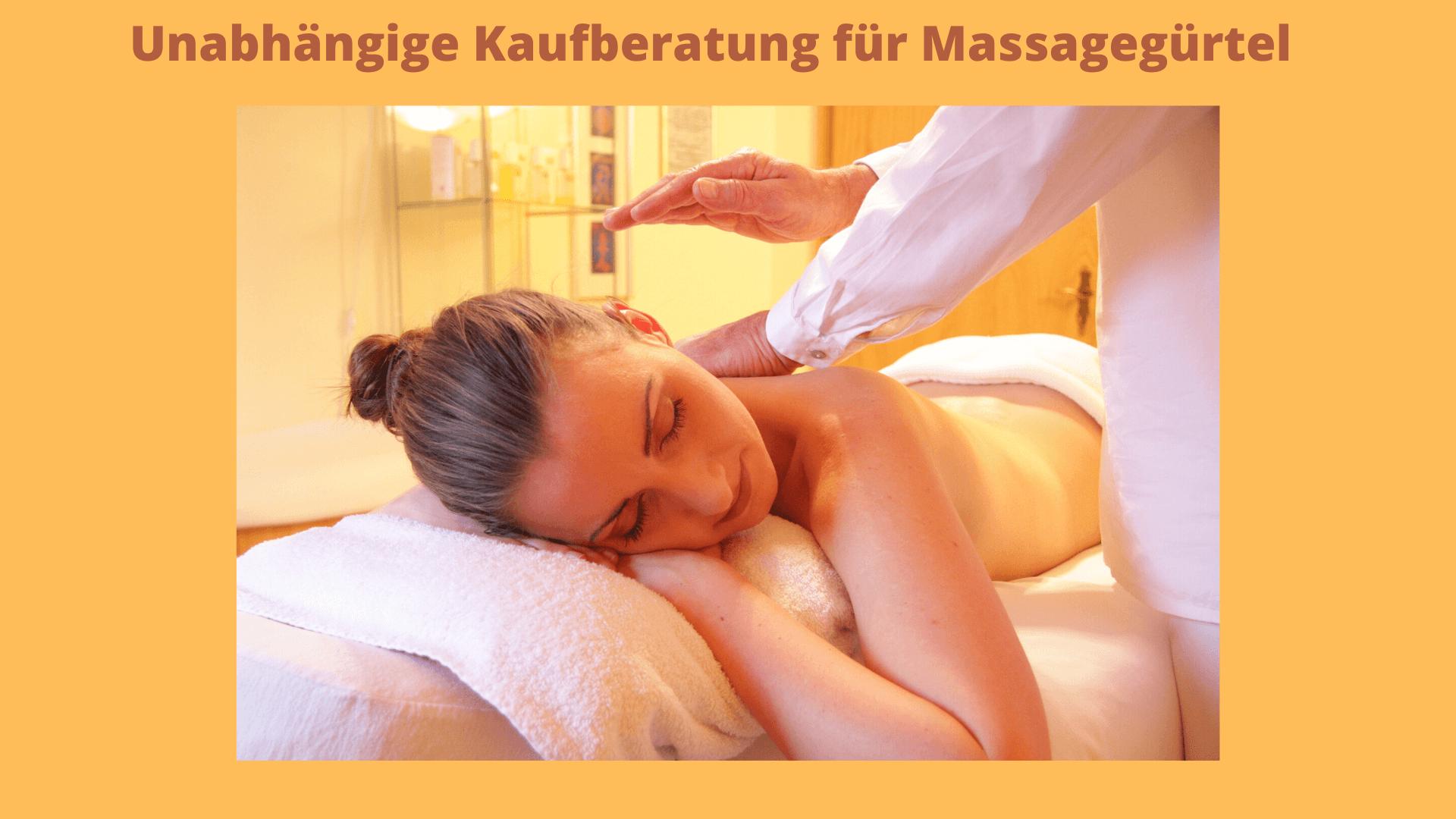 massage frau bild