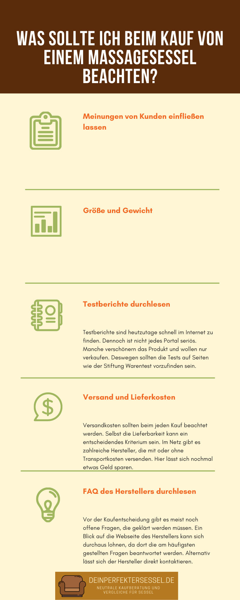 massagesessel kaufen infografik